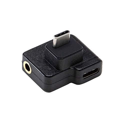 TwoCC Drohnen Zubehör,Dual USB-C auf 3,5 mm Mikrofon Mikrofonadapter für Dji Osmo Action Zubehör