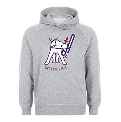 Give A Dog Bone Pretty Unisex Sweatshirt Hoodie Kapuzenpullover Large -