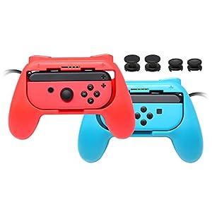JoyCon Griffe für Nintendo Switch, Abriebfest, Joy Con Controller, Handgriffe mit 4 Daumengriffen, 2 Stück