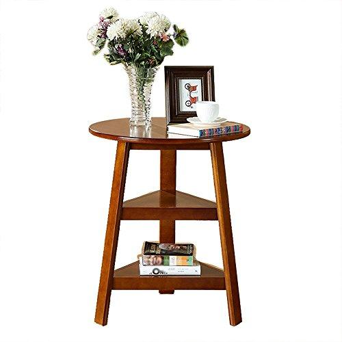 tables de chevet Table De Chevet Table Basse En Bois Massif Canapé Tables Latérales Rround Tables Basses Table D'appoint Moderne Chambre Table Meubles (assemblé, Taille: 56 * 67cm) ( Couleur : Noyer Couleur )
