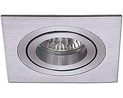 Wonderlamp Spot encastrable carré 5 UNIDADES aluminium