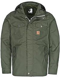 Vintage Industries Sanded Parka Jacket Black - Olive Drab, M e78f18a086