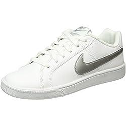 Nike Court Royale, Zapatillas para Mujer, Blanco (White / Metallic Silver), 39 EU