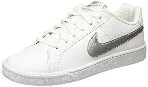 Nike Damen Court Royale Tennisschuhe Weiß (White/Metallic Silver) 38 EU