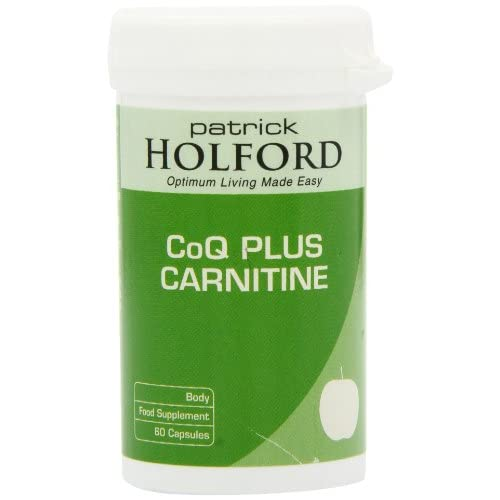 41PrUBWfMqL. SS500  - Patrick Holford CoQ Plus Carnitine 60 Capsules - dynamic heart duo