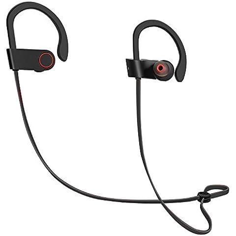 ICONNTECHS IT auriculares Bluetooth, auriculares sin cables (Bluetooth 4.1), cascos con micrófono, cancelación de ruido, fijadores y a prueba de sudores, auriculares estéreo para correr, hacer deporte, gimnasio, ejercicio
