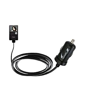 Gomadic Intelligent Compact Car / Auto DC Charger suitable for the Cowon iAudio X5 - 2A / 10W power at half the size. Uses Gomadic TipExchange Technology
