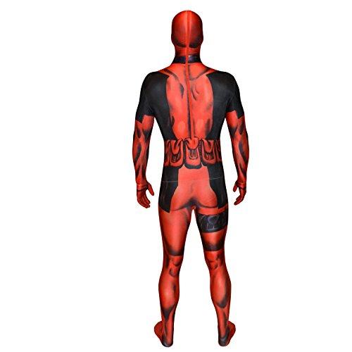Imagen de carnaval disfraz cómics de superhéroes vestidor deadpool morphsuit  adultos alternativa