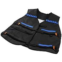 Trifycore Ajustable Chaleco táctico de Airsoft Paintball Chaleco Ligero de Asalto de SWAT Chaleco Accesorios del Arma Negro, Deportes y Tiempo Libre