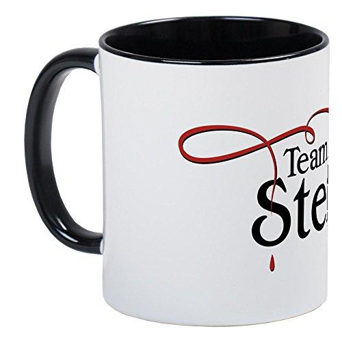 CafePress Vampire Diaries Team Stefan Tasse Kaffeetasse, White/Black Inside, S