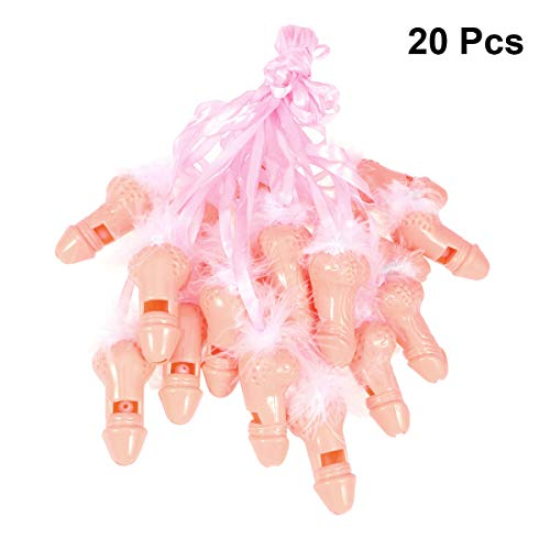 BESTOYARD 20pcs Bachelorette Party Whistle Kunststoff Hens Party Supplies Nacht Neuheit Whistle Halskette