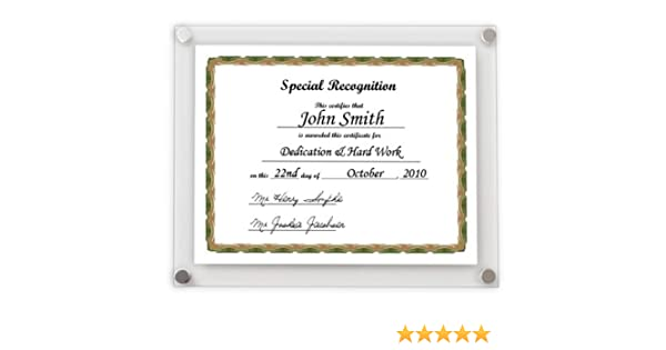 db29aa5f3d9 A4 Certificate Wall Frame  Amazon.co.uk  Kitchen   Home