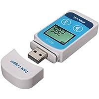 Homyl Mini Registrador de Datos Temperatura de Precisión USB LCD Registrador de 32000 puntos