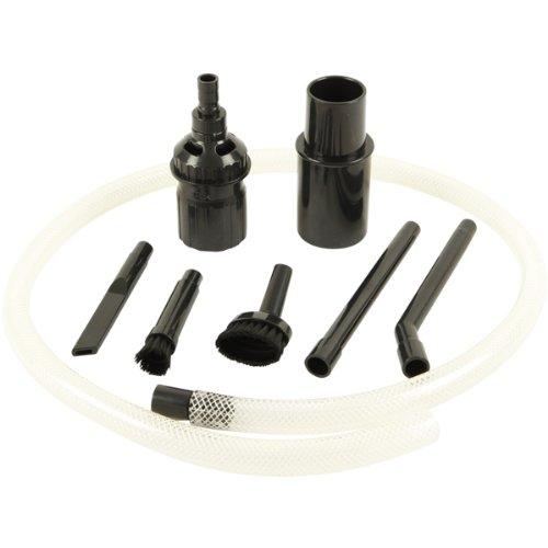 McFilter Univeral Staubsaugerdüse-Set (PC-Reinigungsset) | 8-teiliges, | schwarz, Rohranschluss Ø 32 / 35 mm | Staubsaugerdüse mini, Fugendüse, Staubpinsel,Schlauchverlängerung, Adapter | für Hobby, Computer, Auto, Modelbau uvm.