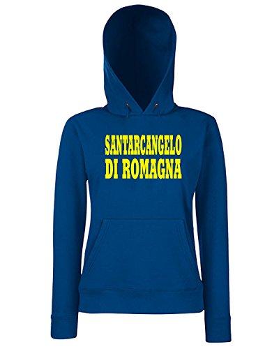 T-Shirtshock - Sweats a capuche Femme WC0864 SANTARCANGELO DI ROMAGNA ITALIA CITTA STEMMA LOGO Bleu Navy