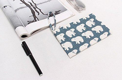 Laat portamonete portatile in piccola tasca borsa in cotone con chiusura lampo 8colori Colore 2 Color 2 11 * 20 Color 5