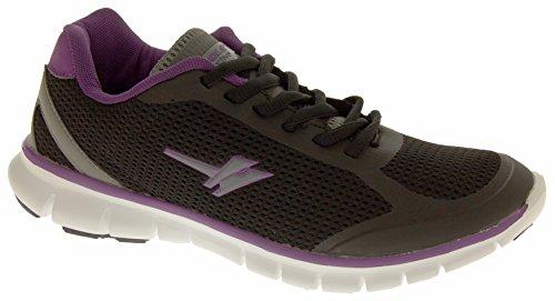 Baskets Gola Active Fitness chaussures d'exercice Sz Femme Taille 345678 Noir - Black & Purple