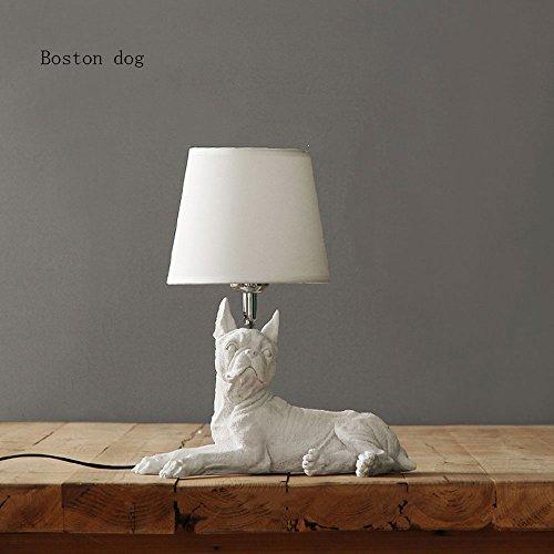 Pumpink Nordic Harz Tuch Bett Nachttischlampen Kreative Studie Installiert Dänischen Retro Schreibtischlampe Schreibtisch Licht Nette Schöne Welpen Tischlampe Tischleuchte -