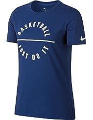 Nike W Nk Dry Tee Df Bm Camiseta de Manga Corta, Mujer, Azul (Deep Royal Blue), M