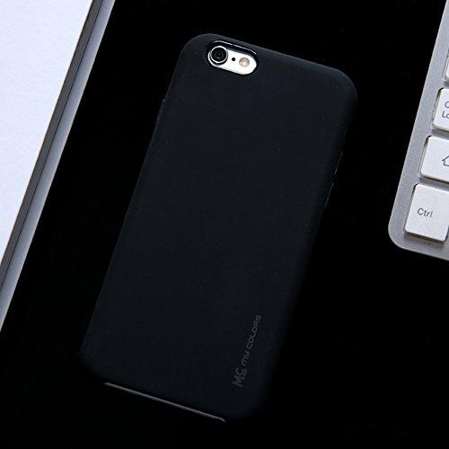 """MOONCASE iPhone 6/iPhone 6s Hülle, Weich TPU Kratzfest Stoßfest Schutztasche Ultra Slim Schroff Rüstung Handysocken Case für iPhone 6/iPhone 6s 4.7"""" Black Black"""