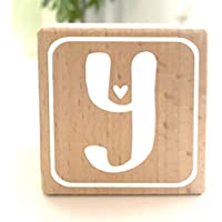 Holzwürfel mit Buchstabe Y