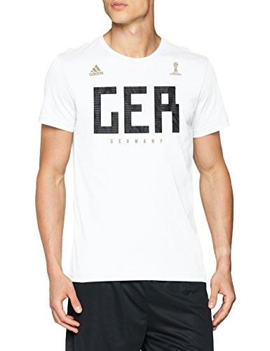 Adidas germany mns, t-shirt uomo, bianco, xl
