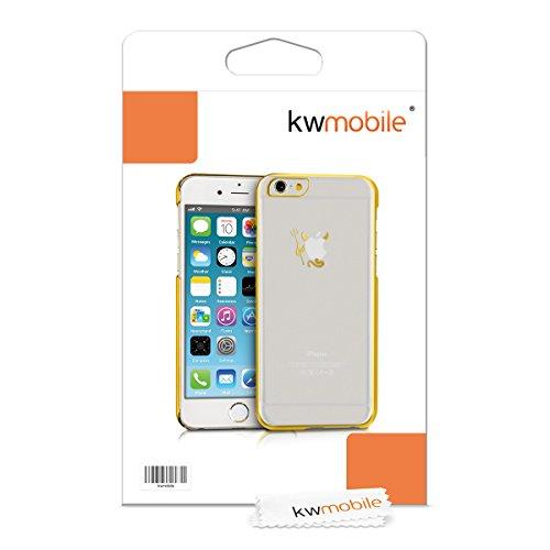 kwmobile Superbe étui rigide transparent ultra-fin très chic pour Apple iPhone 6 Plus / 6S Plus en transparent - Parachève le design de votre Apple iPhone 6 Plus / 6S Plus diable doré transparent
