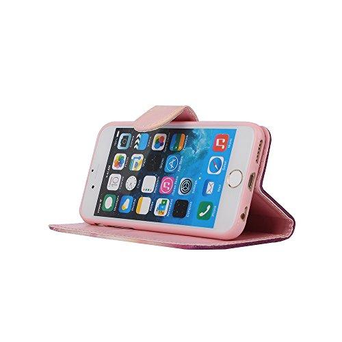 """MOONCASE iPhone 6 Plus Case Coque en Cuir Portefeuille Étui de protection à rabat Case pour iPhone 6 Plus (5.5"""") -ZD09 ZD08"""