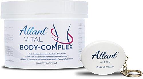 Atlant Vital Body Complex Tabletten, Abnehmen mit L-Carnitin, Colin, Koffein und Kurkuma sowie Mineralien und Vitaminen, Beste Qualität aus Deutschland