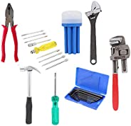 Suzec Johnson Professional Home Kit with Combination Plier, Screwdriver Set, Adjustable Wrench (200 mm), Claw