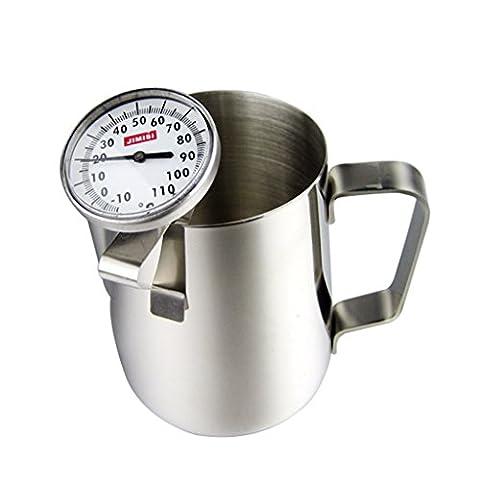 Home chendongdong Kitchen Craft-Cafetière à expresso en acier inoxydable avec thermomètre à lait