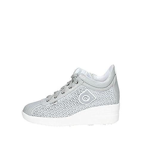 Agile By Rucoline 226 A Sneakers Femme Suède/tissu Argent Argent 35