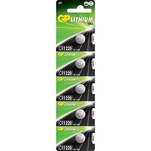 GP Batteries CR1220-C5 Lithium Coin Cell (Pack de 5)
