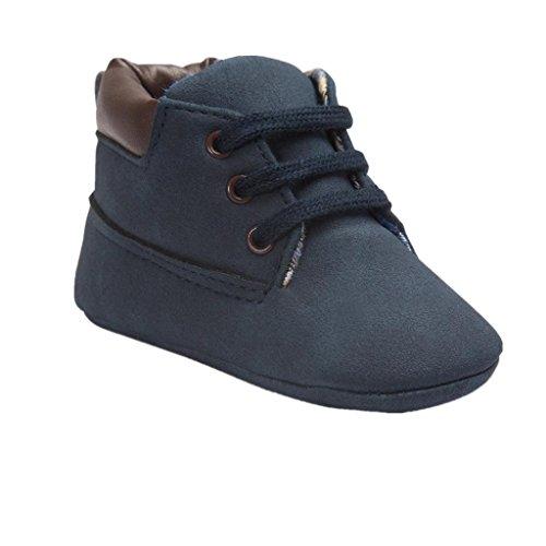 Koly_Scarpe in pelle molle del bambino Sole Bambino sveglio Shoes (Size:13=Age12~18M, Cachi1)