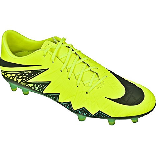 Nike Hypervenom Phatal II FG, Botas de fútbol para Hombre, Amarillo (VoltBlack Hyper Turq Clr Jade), 43 EU