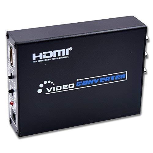 Vcando HDMI zu AV- und S-Video-Konverter HDMI TO AV+S-Video Converter Schwarz  (Für Wii Training-spiele)