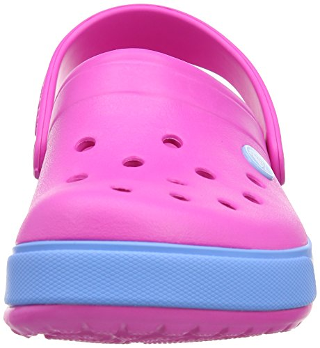 Crocs Band, Sabots mixte enfant Rose (Neon Magenta/Bluebell)
