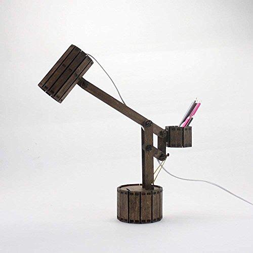 RBB Holztischlampe Augenschutz, Mode Kreative (Sparschwein und Aufbewahrungsbox) Lampe, Braun,Mahagoni (Eiche Mahagoni Bett)