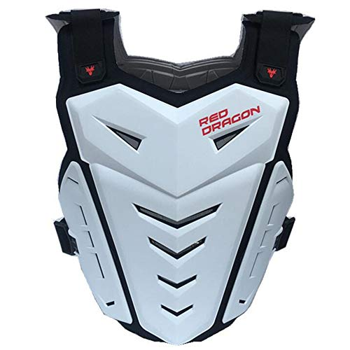 ALZHP Motocross Giacca, Moto Protezione, Spina Dorsale Protezione Professionale, per Motocross, Motociclismo, Mountain Bike, Skateboard E Snowboard,Whit