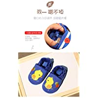 GUHUA Baby Toddler Shoes,Soft Bottom Home Shoes,0-2 Years Old Children Plus Velvet Cotton Shoes,Warm Slippers