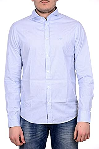 Chemise Homme Armani - Armani Jeans Long Sleeved Custom Fit Striped