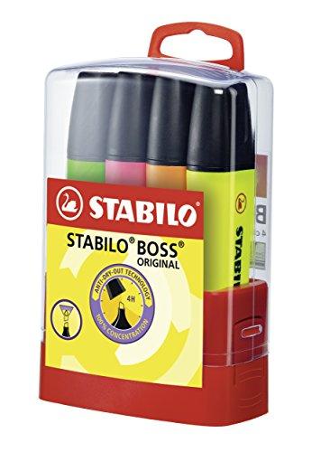Stabilo - Boss Original - Pack de 4 Surligneurs - Couleurs assorties