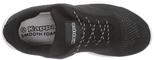 Kappa Delhi Footwear Unisex, Mesh, Baskets Basses mixte adulte Noir - Schwarz (1110 black/white)