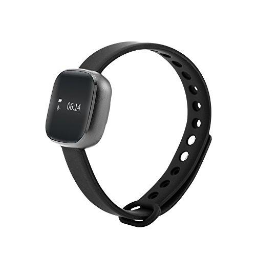 Smart Toch Screen Schrittzähler Fitness Wireless Aktivitäts- und Schlaf Tracker Armband (schwarz) (Tracker-armband Mile)