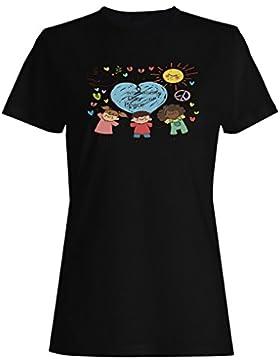 Día De Paz Con Paloma camiseta de las mujeres o417f