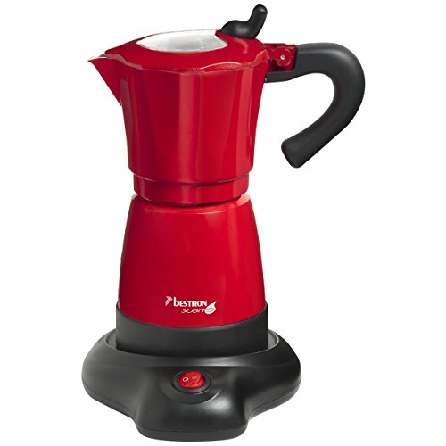 Bestron AES480 - Cafetera italiana eléctrica, 480 W, color rojo