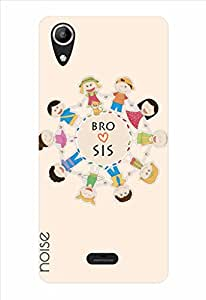 Noise Bro Love Sis-Beige Printed Cover for Micromax Canvas Selfie Lens Q345
