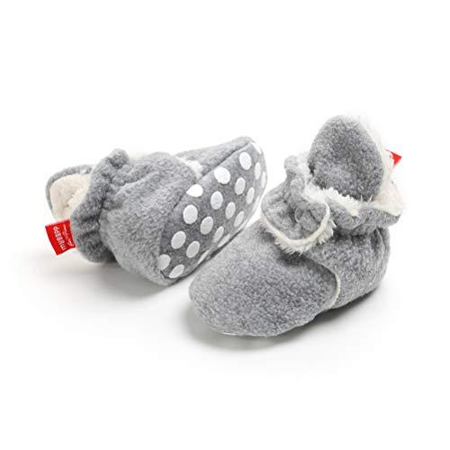 Botas de Niño Calcetín Invierno Soft Sole Crib Raya de Caliente Boots...