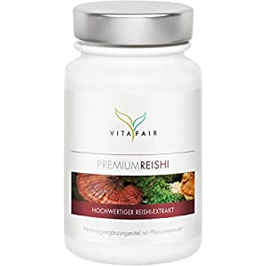 Reishi Extrakt – 500mg pro Tagesdosis – 100 Kapseln – 30% Bioaktive Polysaccharide – Hochdosierter Ganoderma Lucidum – Vegan – Ohne Magnesiumstearat – Made in Germany