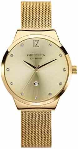 Orphelia Fashion Optima Women's Analogue Quartz Watch with Mesh Stainless Steel Bracelet, Bracelet